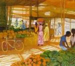 Uwe Herbst Markt in Afrika  www.galerie-wehr.de