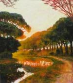 Aktuell Uwe Herbst Galerie Wehr Pinien am Canal du midi