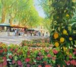 kleiner Zitronenbaum Blumenmarkt in Aix en Provence Uwe Herbst