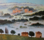 Nebel in der Toscana