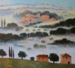 Nebel in der Toscana