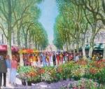 Uwe Herbst Marktplatz mit Blumen