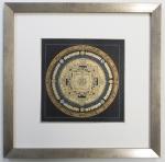 Kalachakra Mandala  Nepal silber gold Galerie Wehr rahmen