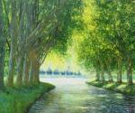 Uwe Herbst Canal im Frühling