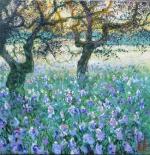 Uwe Herbst Olivenbäume mit Iris