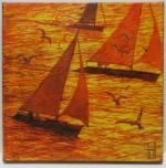 Uwe Herbst Miniatur Boote in der Sonne