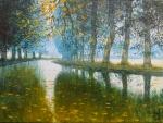 Uwe Herbst Canal du midi im Nebel klein