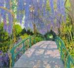 Uwe Herbst Brücke in Monets Garten quer