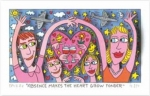 James Rizzi RIZZI10276 �ABSENCE MAKES THE HEART GROW FONDER� 9 x 16 cm