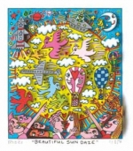 James Rizzi RIZZI10274 �BEAUTIFUL SUN DAZE� 14 x 12 cm