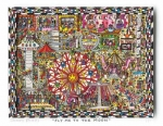 James Rizzi RIZZI10217 �FLY ME TO THE MOON� 19 x 25 cm