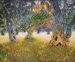 Uwe Herbst alte Olivenbäume 100x120 wehr