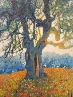 Uwe Herbst kleiner Olivenbaum 30x40 wehr