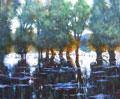 Wasserreflektion am Rhein Uwe Herbst Galerie Wehr